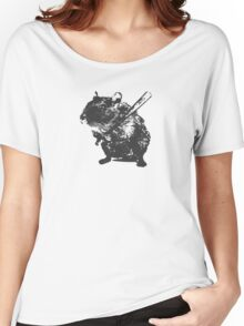 Angry street art mouse / hamster (baseball edit) Women's Relaxed Fit T-Shirt