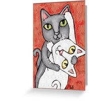 Cat Tango Greeting Card
