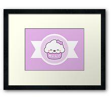 Cute Happy Cupcake Framed Print