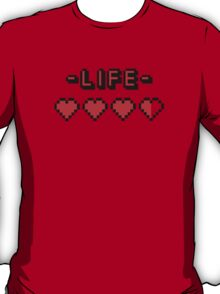 8-bit gamer lifebar T-Shirt