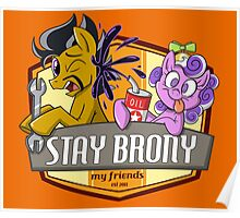 Stay Brony My Friends Garage Poster