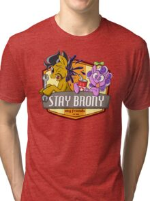 Stay Brony My Friends Garage Tri-blend T-Shirt