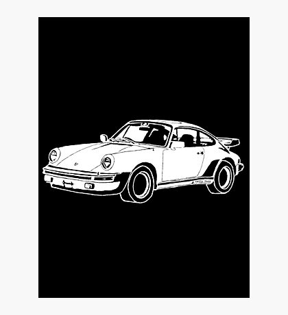 1980s Porsche 911/930 Turbo Hand Drawing Photographic Print