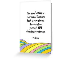 Oh The Places You'll Go! Quote Greeting Card