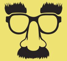 Groucho mask - nerd glasses Kids Tee