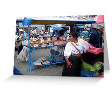 Otavalan Textile Vendor Greeting Card
