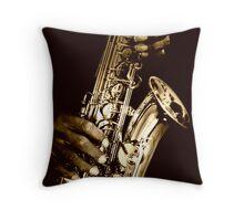 Hot Jazz Throw Pillow
