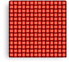Weave World (red) Canvas Print