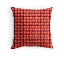 Weave World (red) Throw Pillow