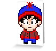South Park Stan Marsh Mini Pixel Greeting Card