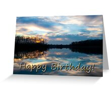 Birthday Sunset Lake Greeting Card