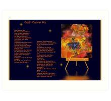 God Canvas Sky Fractal 1 Art Print