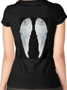 Large Angel Wings Women's Fitted Scoop T-Shirt