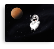 Little guy lost in space Canvas Print