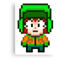 South Park Kyle Broflovski Mini Pixel Canvas Print