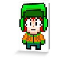 South Park Kyle Broflovski Mini Pixel Greeting Card