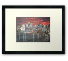 Montreal is Alive   /   true   joie de vivre   ( french ,   Joy of Living )        (  My Paintings )  Framed Print