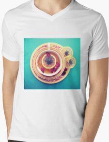 Lemon Tea Mens V-Neck T-Shirt