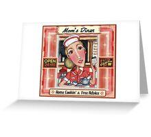 Vintage Diner  Waitress Greeting Card