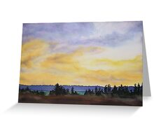 Storm Rollin In Greeting Card