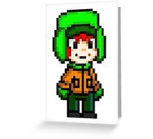 Kyle Broflovski Pixel Greeting Card