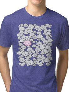 Kawaii Grey Little Clouds Tri-blend T-Shirt