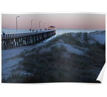 Jetty and dunes at dawn Poster