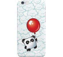 Kawaii Little Panda on the Balloon iPhone Case/Skin