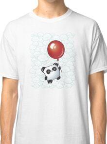 Kawaii Little Panda on the Balloon Classic T-Shirt