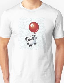Kawaii Little Panda on the Balloon Unisex T-Shirt