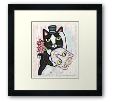Wedding Dance Cats Framed Print