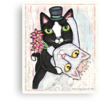 Wedding Dance Cats Canvas Print