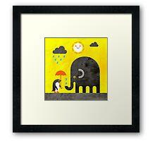 Elephant and Penguin Framed Print
