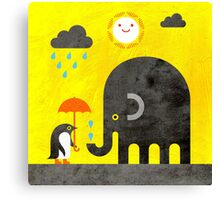 Elephant and Penguin Canvas Print