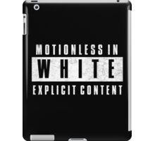 Motionless In White Explicit Content iPad Case/Skin