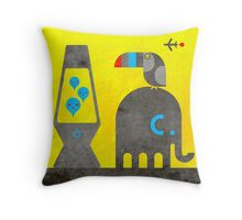 Elephant and Toucan Throw Pillow
