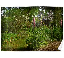 In a Cottage Garden . . . Poster