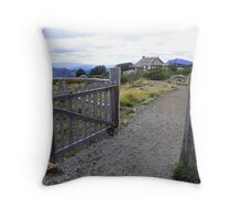 Welcome to Craigs Hut Throw Pillow