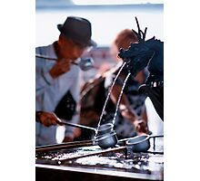 Cleansing the body before entering the shrine, Asakusa, Tokyo, Japan Photographic Print