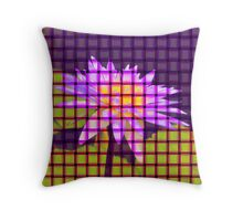 Weave World (water lily) Throw Pillow