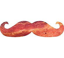 Bacon Mustache Photographic Print