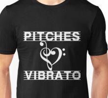 Pitches Love Vibrato Revised (white) Unisex T-Shirt