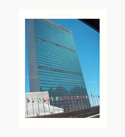 united nations building Art Print