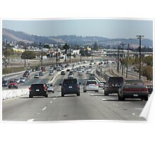 Traffic on Interstate 880 Poster