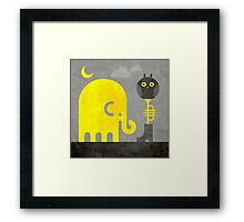 Elephant and Owl Framed Print