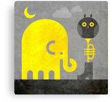 Elephant and Owl Canvas Print