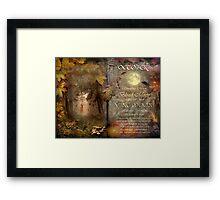 October - Vine Moon Framed Print