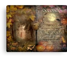 October - Vine Moon Canvas Print