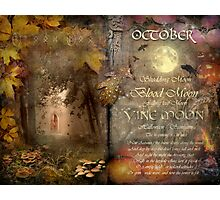 October - Vine Moon Photographic Print