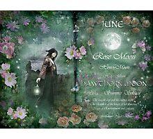 June : Hawthorn Moon Photographic Print